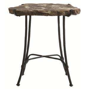 Bernhardt Interiors - Accents Petrified Wood Slab Side Table