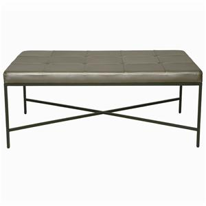 Bernhardt Interiors - Accents Ulster Leather Ottoman