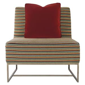 Bernhardt Interiors - Accents Toby Armless Accent Chair with Metal Legs