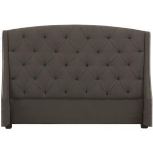 Bernhardt Interiors - Beds Queen Jordan Button-Tufted Wing Headboard