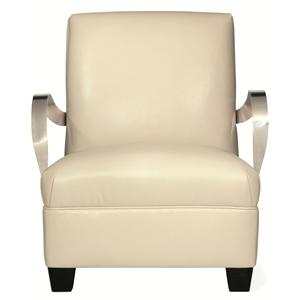 Bernhardt Interiors - Chairs Markham Leather Chair
