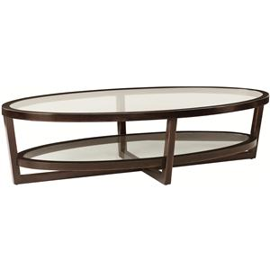 Bernhardt Zola Oval Cocktail Table