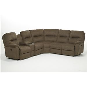 Best Home Furnishings Bodie 6 Pc Reclining Sectional Sofa