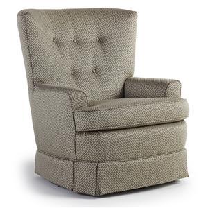 Best Home Furnishings Chairs - Swivel Glide Courtney Swivel Glide Chair