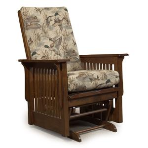Best Home Furnishings Glide Rocker and Ottomans Texiana Glider