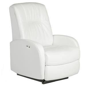 Best Home Furnishings Recliners - Petite Ruddick Power Rocker Recliner