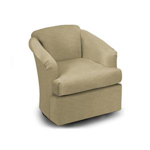Best Home Furnishings Chairs - Swivel Barrel Shale Swivel Glider Barrel Chair