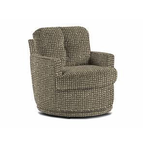Best Home Furnishings Chairs - Swivel Barrel Pewter Swivel Barrel Chair