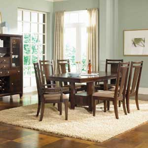 Broyhill Furniture Northern Lights 7 Piece Adjustable Height Table and Chair Se