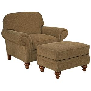 Broyhill Express Larissa Quick Ship Chair Ottoman
