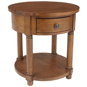 Broyhill Furniture Attic Heirlooms Round End Table
