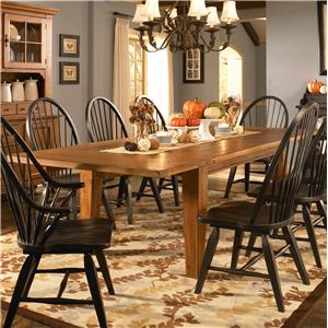 Broyhill Furniture Attic Heirlooms Leg Dining Table