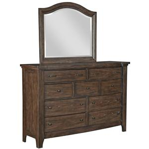 Broyhill Furniture Attic Retreat Drawer Dresser and Arched Mirror
