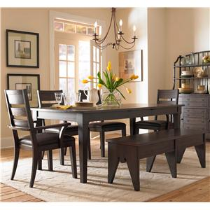 Broyhill Furniture Attic Retreat 6 Piece Dining Table, Chair and Bench Set