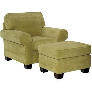 Broyhill Furniture Choices Upholstery <b>Customizable</b>  Chair & Ottoman