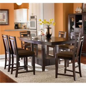Broyhill Furniture Northern Lights 7 Piece Counter Height Set