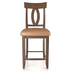 "Canadel Bar Stools Customizable Fixed 24"" Uph Bar Stool"
