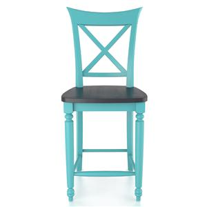 "Canadel Bar Stools <b>Customizable</b> 24"" Fixed Stool"