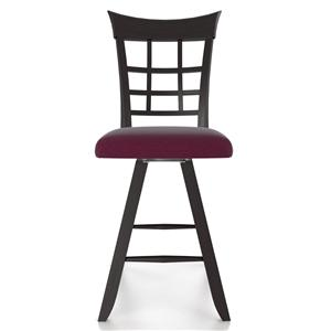 "Canadel Bar Stools <b>Customizable</b> 24"" Uph Swivel Stool"