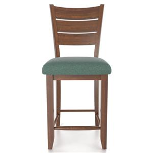 "Canadel Bar Stools <b>Customizable</b> 24"" Uph Fixed Stool"