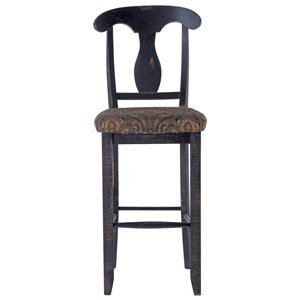 "Canadel Champlain - Custom Dining <b>Customizable</b> 30"" Uph Splat Back Stool"