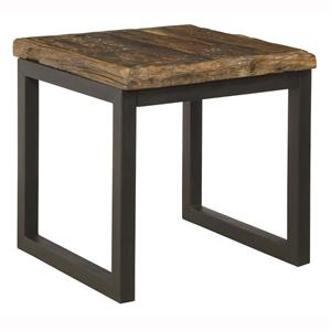 Coast to Coast Imports Jadu Accents Railroad Wood And Iron End Table
