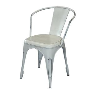 Coast to Coast Imports Jadu Accents White Metal Chair - 2 pack