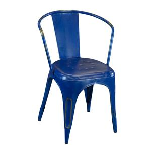 Coast to Coast Imports Jadu Accents  Blue Metal Chair - 2 pack