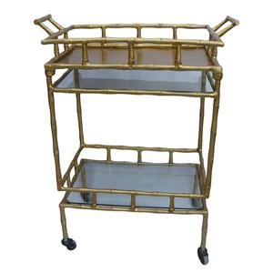 Coast to Coast Imports Jadu Accents Metal Bar Cart