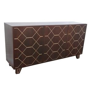Coast to Coast Imports Jadu Accents Three Door Sideboard