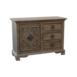 Coast to Coast Imports Jadu Accents Three Drawer One Door Cabinet
