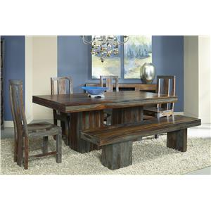 Coast to Coast Imports Jadu Accents Sheesham Dining Set