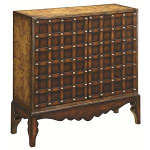 Coast to Coast Imports Occasional Accents Exotically Detailed Two Door Chest