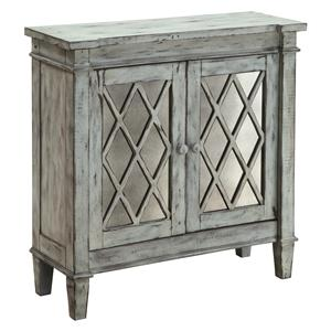 Coast to Coast Imports Occasional Accents Two-Door Mirrored Cabinet