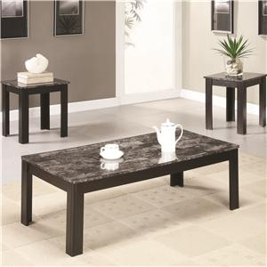 Coaster 3 Piece Occasional Table Sets 3PC Occasional Group