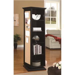 Coaster Accent Cabinets Swivel Cabinet (Black)