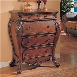 Coaster Accent Cabinets Bombe Desk with Drop Lid