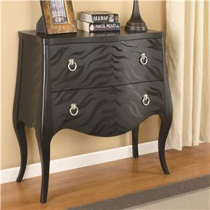 Coaster Accent Cabinets Animal Print Accent Cabinet