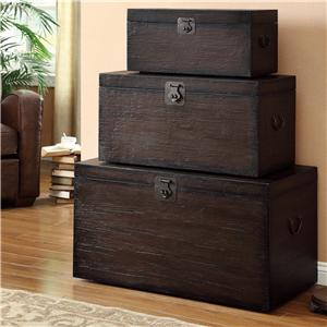 Coaster Accent Cabinets Storage Trunk Set