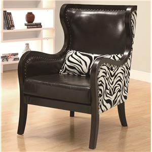 Coaster Accent Seating Exposed Wood Accent Chair