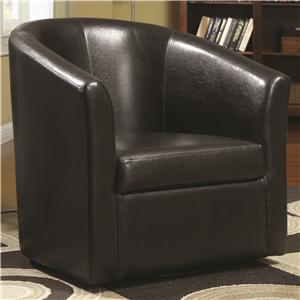 Coaster Accent Seating Swivel Accent Chair