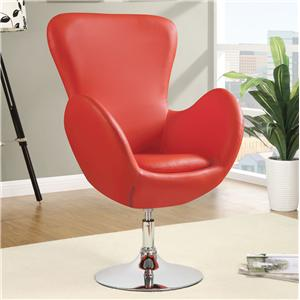 Coaster Accent Seating Leisure Chair (Red)