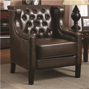 Coaster Accent Seating Wing Chair