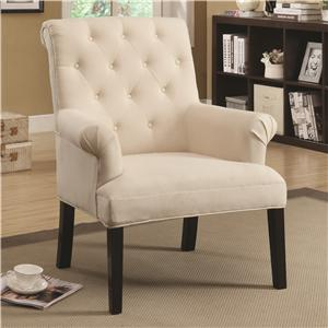 Coaster Accent Seating Rolled Back Chair
