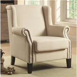 Coaster Accent Seating Traditional Wing Chair