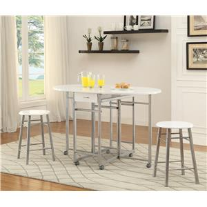 Coaster Bar Units and Bar Tables 3-Piece Dining Set