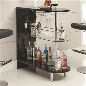 Coaster Bar Units and Bar Tables Black Bar Table