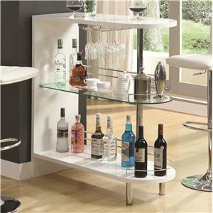Coaster Bar Units and Bar Tables White Bar Table