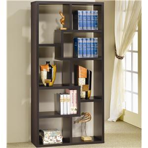 Coaster Bookcases Bookcase, Cappuccino