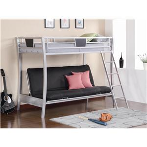 Coaster Bunks Futon Bunk Bed with Futon Mattress